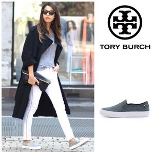 LIKE NEW Tory Burch Floyd leather slip on sneaker